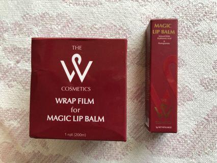 🚚 The W Cosmetics Magic Lip Balm and Wrap Film set