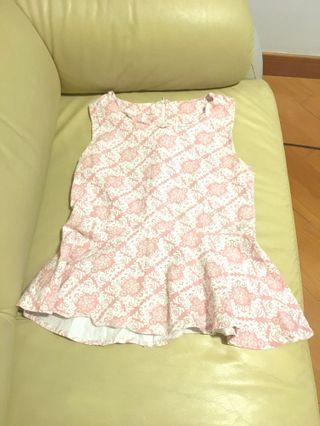 Pink floral top vest