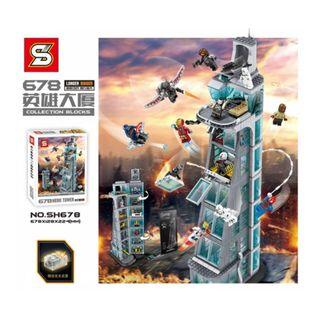 SH678 Attack on Avengers Tower 7 floors Upgraded Version