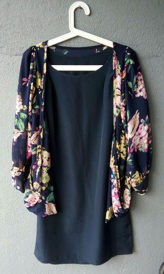 Blouse with Cardigan