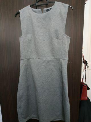 🚚 Grey Work/office one piece sexy Dress