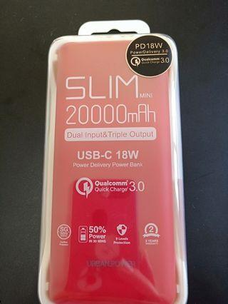 BNIB N.Brandz Slim Mini 20000mAh Power Bank
