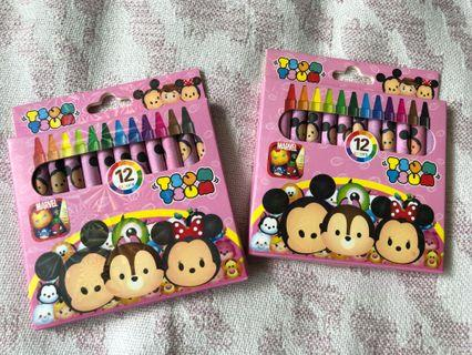 Tsum Tsum crayons