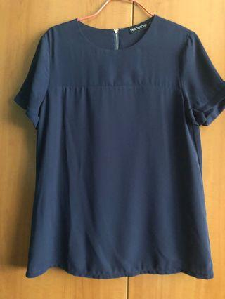 The Closet Lover blue top/blouse