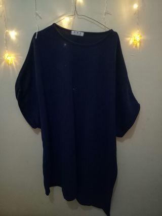 Knitted Navy Tunic