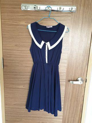 Clearance - The Velvet Dolls TVD Navy Blue Dress