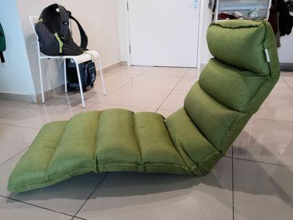 Smartux Gigato Linen Fabric Adjustable Futon Sofa