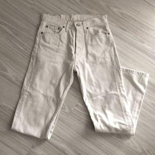 Levi 501 vintage 米白色牛仔褲