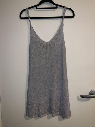 Topshop silver dress
