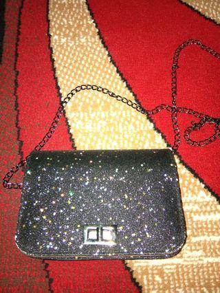 Sling bag glitter