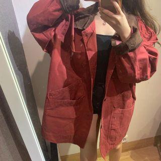 red tartan reversible vintage jacket