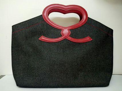 日本牌子Savoy 牛仔布手挽袋