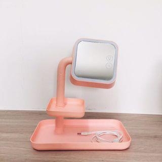 🚚 USB三段式調光LED化妝鏡