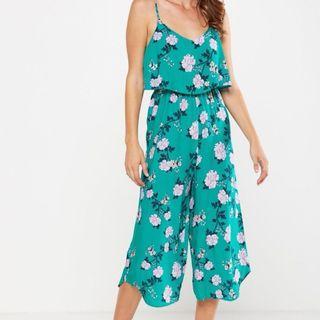 Cotton on cami floral tropical flora jumper culotte jumpsuit