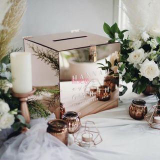 [NEW] Customized Acrylic Box for Tokens Collection during Wedding