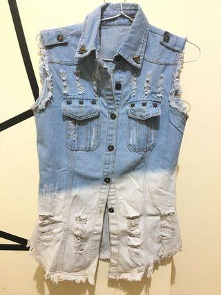 Outer ripped jeans