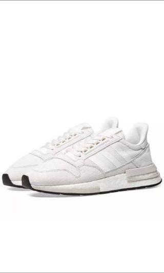 🚚 Adidas ZX500 RM Mens Sneakers US9 White Grey <Ready Stock> #MRTJurongEast