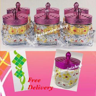 Glass Canister with Rack