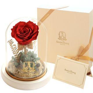 平售, 靚靚🥀🥀玫瑰永生花玻璃罩禮盒 💞💞紅玫瑰