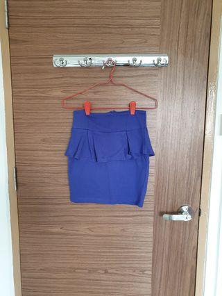 Cotton On Cobalt Blue Peplum Skirt