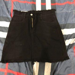 黑色牛仔裙M