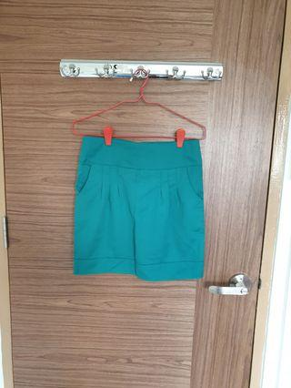 Clearance - Purpur Turquoise Green Tulip Skirt
