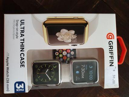 Griffin Apple Watch 38mm ultra thin case 3 pack