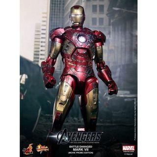 "Hot Toys ""The Avengers"" Iron Man Mark VII Battle Damaged (Movie Promo)"