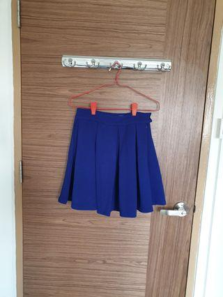 Missypixie Cobalt Blue Pleated Skirt