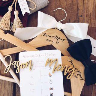 [NEW] Customisable Clothes Hanger for Bride & Groom / Bridesmaid & Groomsmen