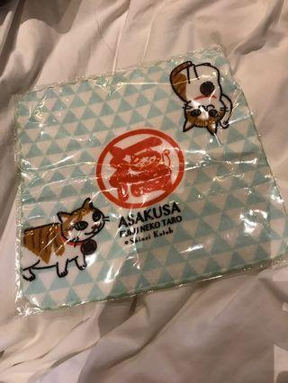 Lucky cats hand towel