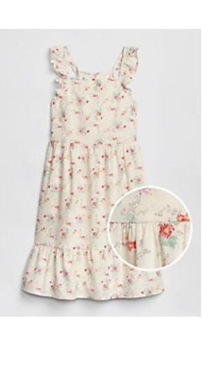 🚚 Authentic Cotton GAP Floral Ruffle Dress