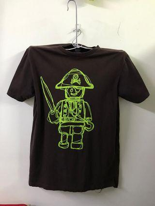 Lego Minifigure (Brown) Round Neck T-shirt #MidValley