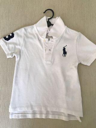 🚚 Preloved Authentic Big Pony Ralph Lauren White polo