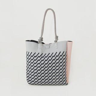 Tricote ZigZag Knit Code Tote Bag