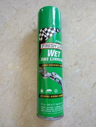 Finish line chain lubricant wet