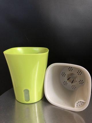 中儲水式花盆 3個 全新 (綠色)