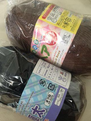Knitting yarn Black & Brown