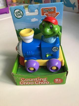 Leap frog counting Choo Choo train