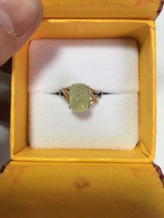 橄欖石貔貅戒指(活動戒圍)