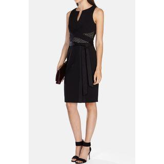 Karen Millen Pencil Cocktail Dress (Belted) - Black, Never Worn with Tags ( Size 8 to 10)