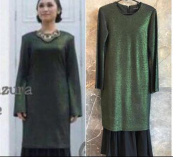 Baju Kurung Moden Diyana Halik In Green