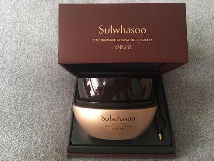 (60ml) 雪花秀珍雪活顏面霜 Sulwhasoo Timetreasure Renovating Cream EX