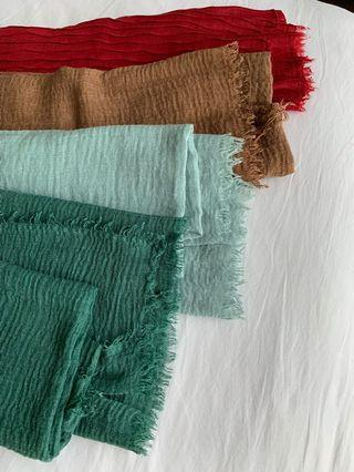 Wrinkle Cotton Scarf