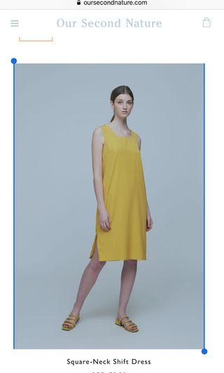 🚚 BN OSN square neck shift dress
