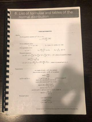 CIE AS Pure Mathematics 1 Past Year Papers