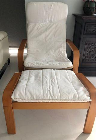 Recliner with foot stool