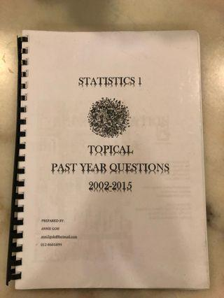 CIE AS Statistics Topical Past Year Papers