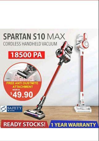 【Local Warranty】SPARTAN S10 MAX 14kPA/18.5kPA Suction Power | Cordless Vacuum