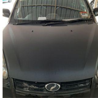 Car 3D Carbon Bonet Sticker